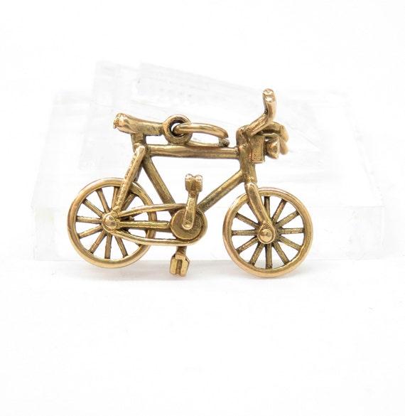 Antique 9k Gold Bike Charm; Bicycle Charm; Vintage
