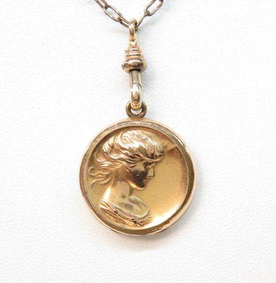 Victorian Gold Filled Locket; Portrait Locket; Vin