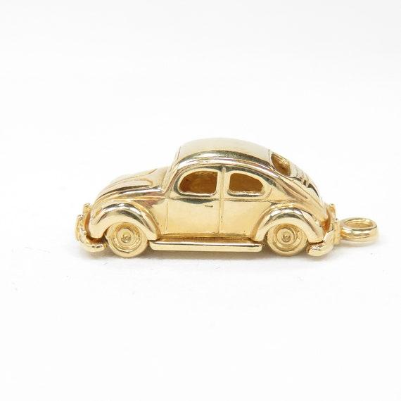 Vintage 14k Gold Volkswagen Beetle Car Charm; Art… - image 2