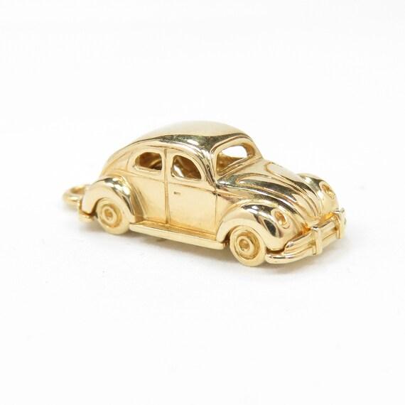 Vintage 14k Gold Volkswagen Beetle Car Charm; Art… - image 1