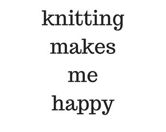 digital, download, poster, knitting makes me happy