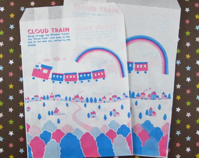 Cloud Train Paper Bags