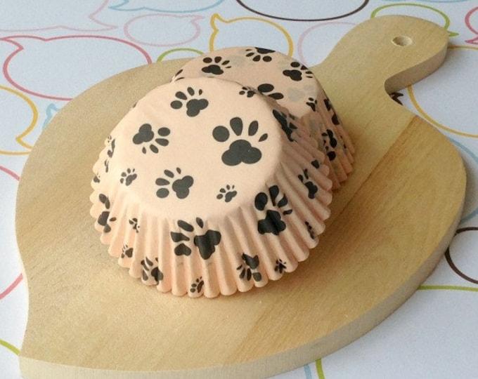 Paws Creamy Orange Standard Cupcake Liner