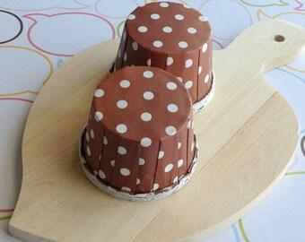 50 Polka Dots Chocolate Baking Cups