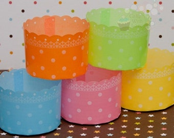 Colorful Polka Dot Baking Cups Set