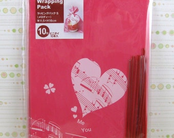 Music Notes Heart Pink Gift Bags