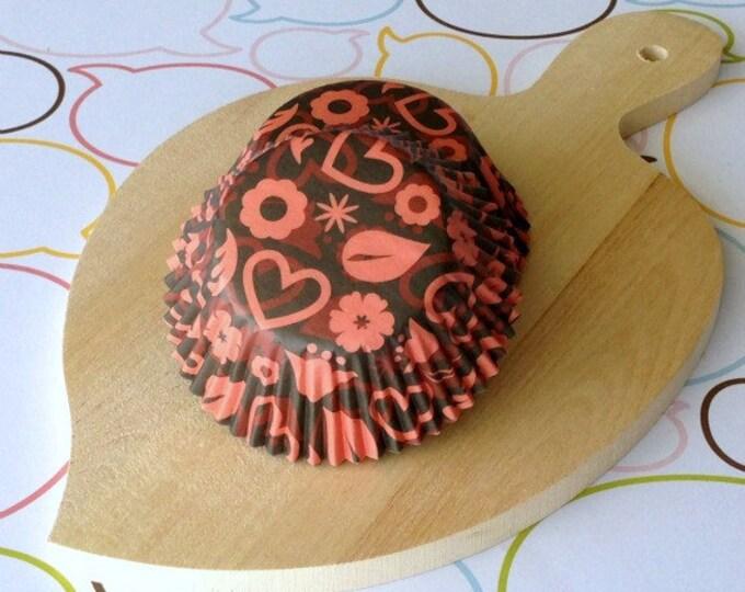 SALE - Devil Hearts Black Standard Cupcake Liners