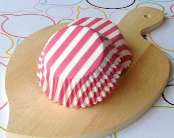 Pink Stripe Standard Cupcake Liners
