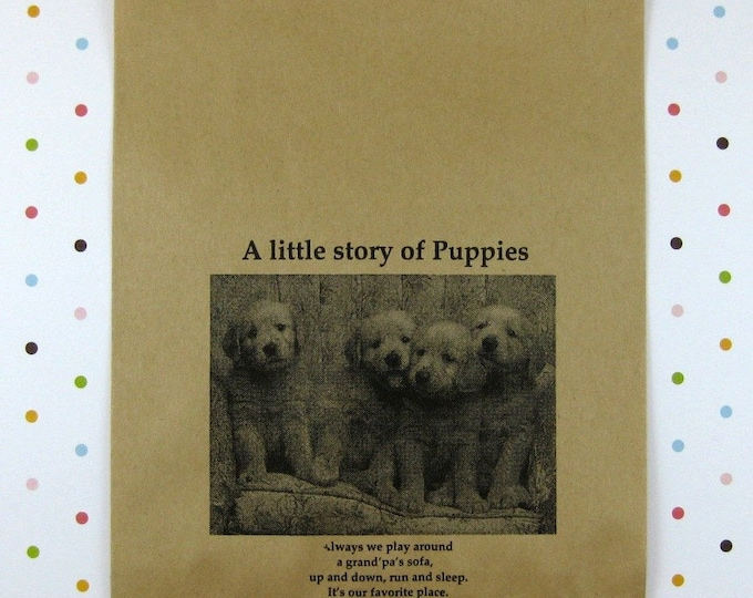 25 Puppies Kraft Paper Bags