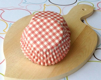 Red Gingham Standard Cupcake Liners