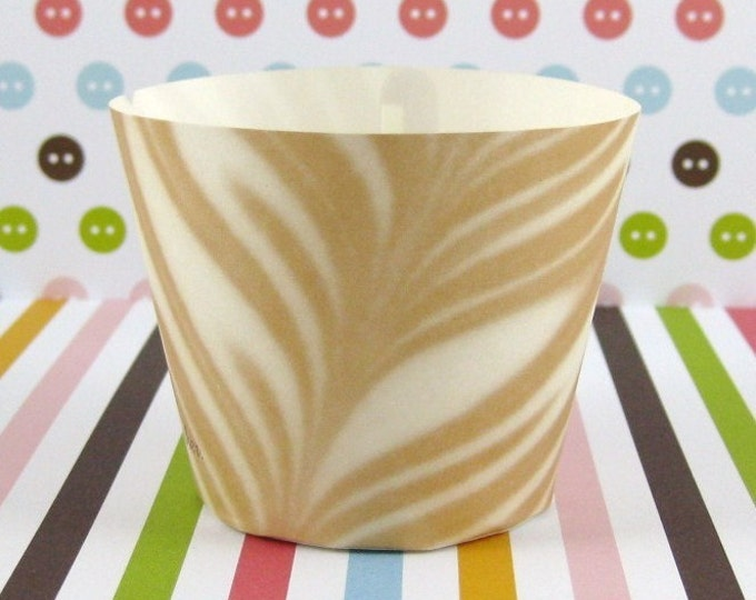 25 Cappuccino Baking Cups