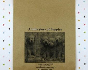 25 Puppies Kraft Paper Bags