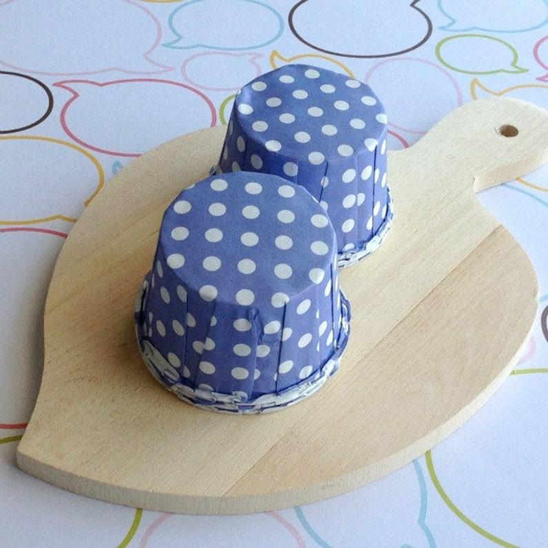 50 Lavender Polka Dot Baking Cups image 0
