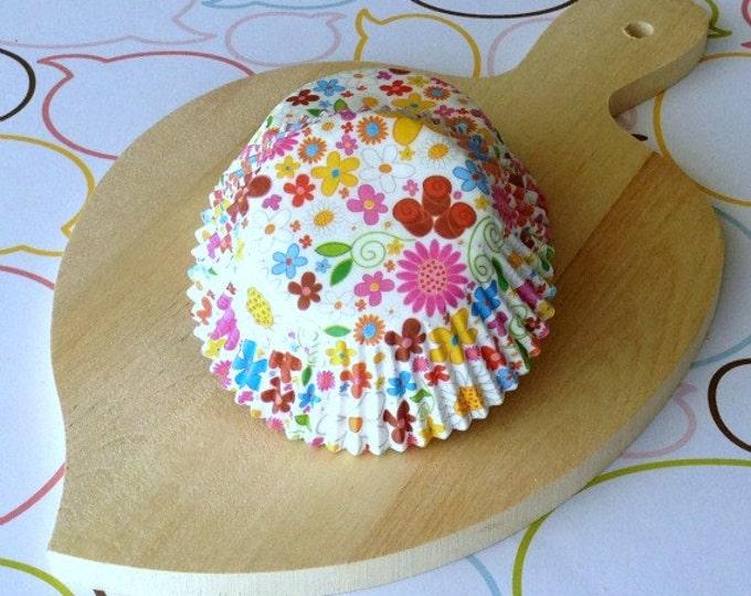 SALE - Floral Standard Cupcake Liners