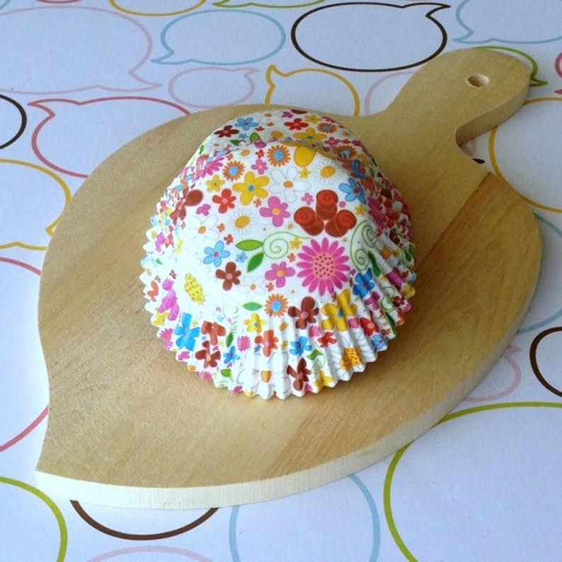 SALE  Floral Standard Cupcake Liners image 0