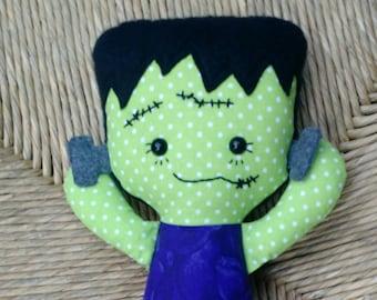 Frankenstein's Monster Rag doll Calico ready to ship