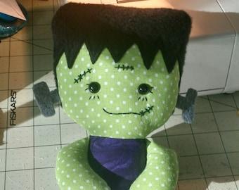 Frankenstein's Monster Rag doll Calico made to order