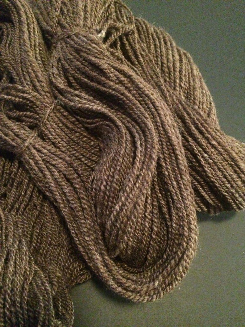 Hand Spun Yarn Natural Color Alpaca 2Ply Yarn 294 Yards Aran Weight Yarn Worsted Weight Yarn