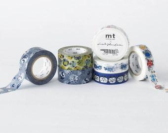 mt Washi Masking Tape - Succulents or Cat Mosaic - Lisa Larson