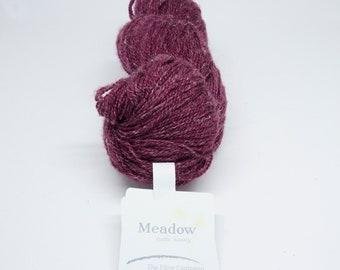 deSTASH yarn, Meadow , The Fiber Company, Prairie, burgundy yarn, deep red yarn, knitting yarn, crochet yarn, lace yarn, fingering