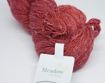 deSTASH yarn, Meadow , The Fiber Company, Bergamot, red knitting yarn, knitting yarn, rustic yarn, crochet yarn, lace yarn, fingering