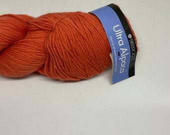 DeSTASH yarn, Berroco Ultra Alpaca, worsted weight yarn, tangelo color yarn, orange knitting yarn, Tangelo, wool alpaca blend