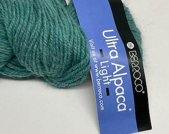 DeSTASH yarn, Berroco Ultra Alpaca Light, DK yarn, Turquoise yarn, teal knitting yarn, wool alpaca blend