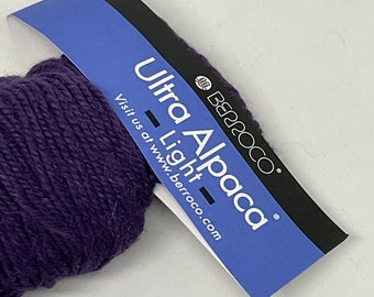 DeSTASH yarn, Berroco Ultra Alpaca Light, DK yarn, purple yarn, eggplant knitting yarn, wool alpaca blend