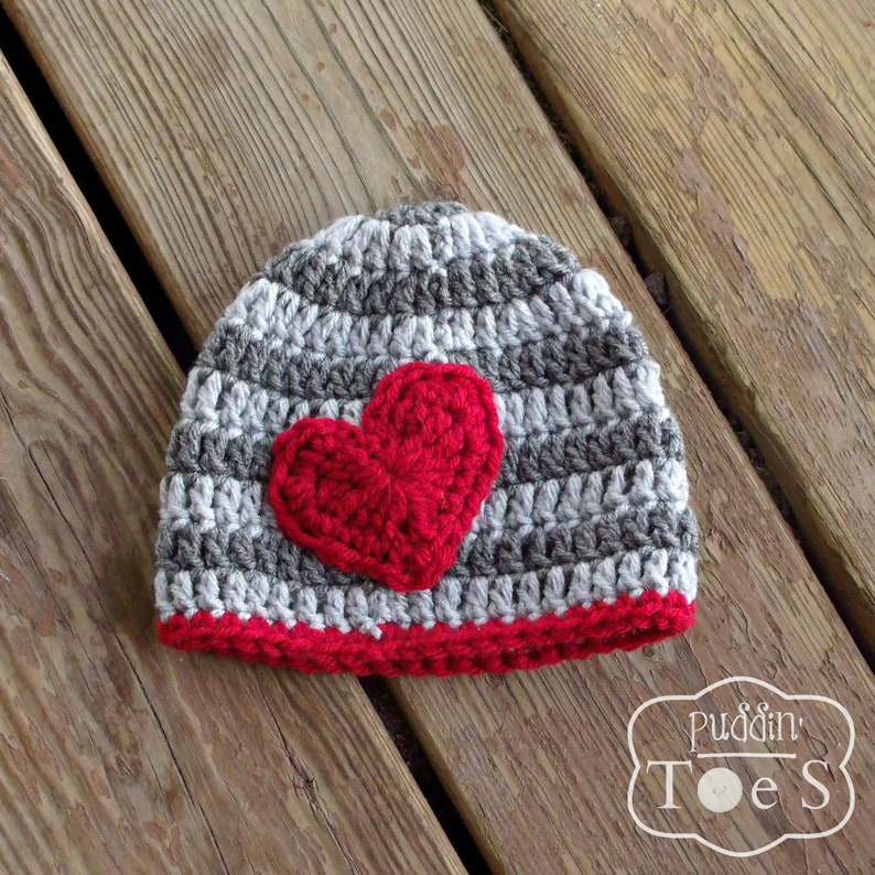 b82294bd413 Valentines Day Baby Hat Newborn Baby Boy Beanie Red Crochet