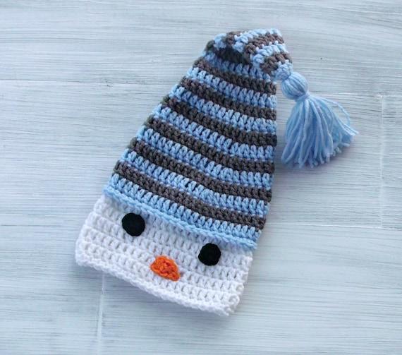 Ready To Ship Snowman Baby Boy Hat Warm Winter Crochet Etsy