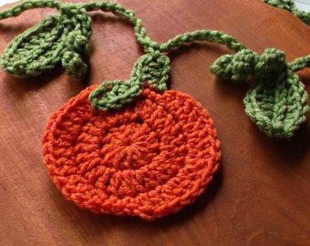 Crochet Pumpkin Garland, Country Fall Garland, Crochet Thanksgiving Garland for Mantel, Harvest Decor, Autumn Decorations, Ready to Ship
