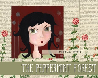A Girl Named Thistle, Illustration Art Print from The Peppermint Forest with FREE SHIPPING
