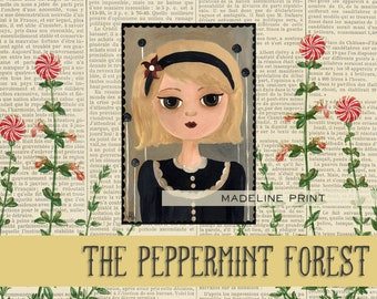 A Girl Named Madeline Illustration Art Print from The Peppermint Forest with FREE SHIPPING