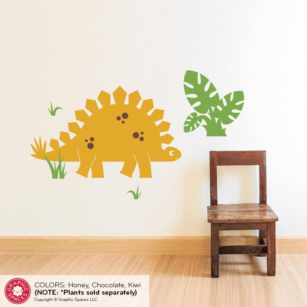 Dinosaur Wall Decal Stegosaurus Cute Dino Baby Nursery ...
