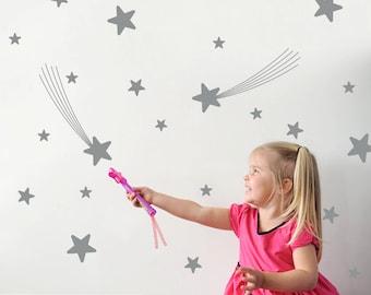Star Wall Decals Nursery Star Wall Art Star Room Decorations Star Wall Stickers (Pack of 31)