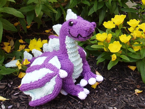 Pattern Knit Dragon Etsy
