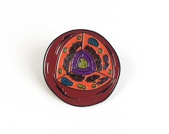 Animal Cell Pin - Soft Enamel Collector Art Science Pin