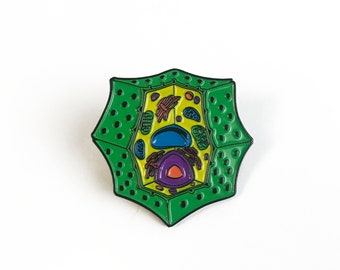 Plant Cell Pin - Soft Enamel Collector Art Science Pin