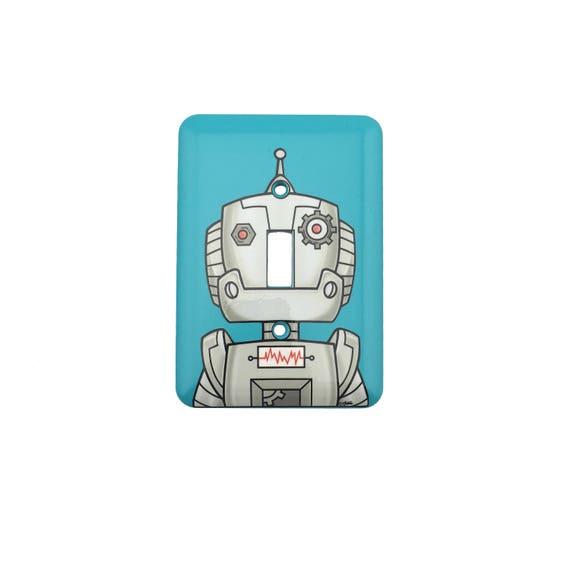 Robot Light Switch Plate - Robot Head