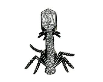 Bacteriophage Virus Enamel Pin - Glow in the dark edition