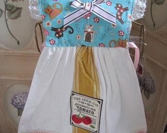 fe524894884a0 Kamino Cats Kitchen Towel Dress | Etsy