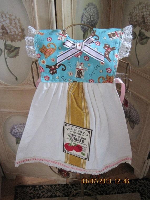 5947fef6e7d99 Crazy Cats Kitchen Towel Dress