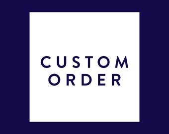 CUSTOM order for Jane - Vintage Hmong Pillows - Blue Indigo - Stripe Pillow Covers - Modern Boho Style -  Made to Order