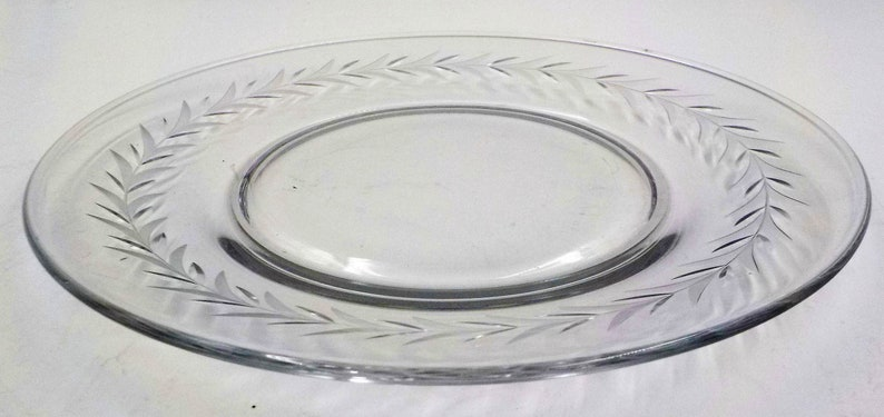 Luncheon Plates Cambridge Simple Elegance 6 Vintage Crystal Dishes Gift for Her