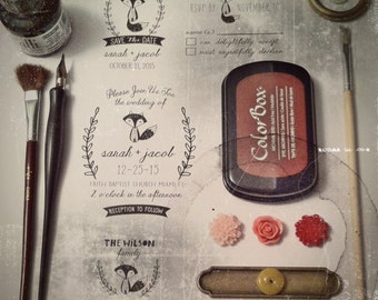 Fox Save the Date Stamp