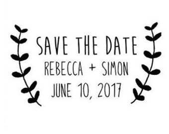 Elegant Save the Date - Rubber Stamp