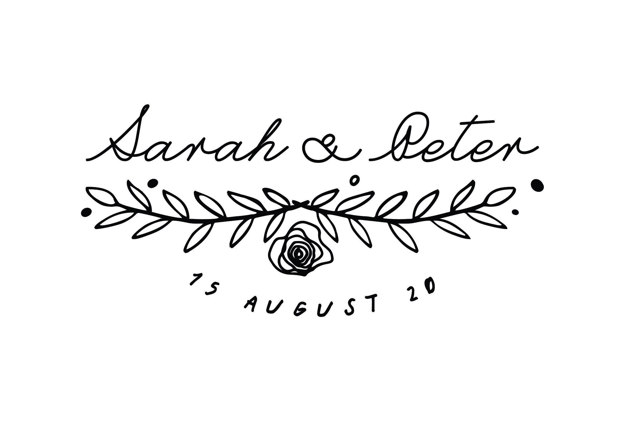 Sarah and David Spring Series Save the Date Stamp