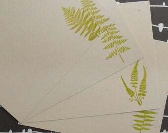 Fern embossed flad noteset
