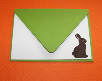 Chocolate bunny Easter noteset