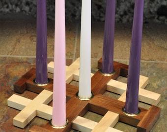 Jerusalem Cross Advent Candle Holder / Centerpiece